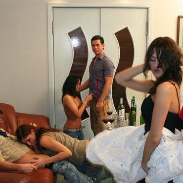 Studenten Sex Party