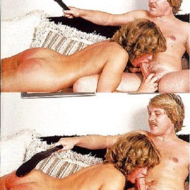 Vintage Porno mit Shcnurrbart