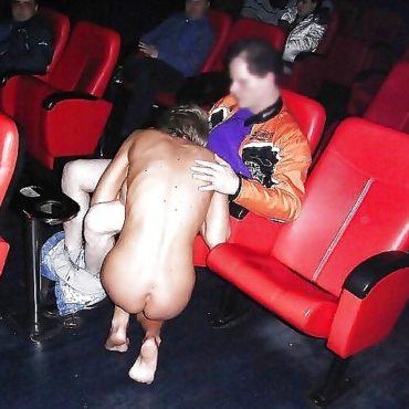 Beim Fummeln im Kino