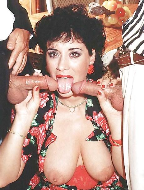Vintage Porno mit zwei Schwänzen