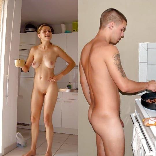 Küche in nackte frau der Nackte Mutter