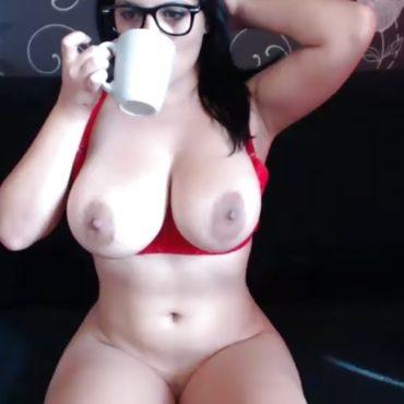 Prall Nackt vor der Webcam