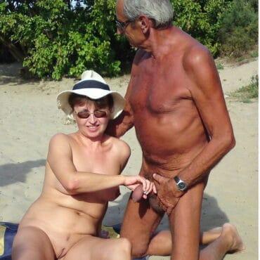 Alt und geil am Beach