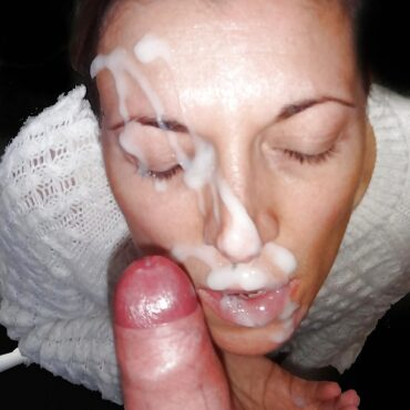 Geiles Sperma im Gesicht