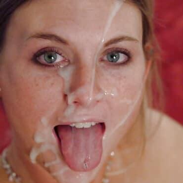 Sperma im Gesicht